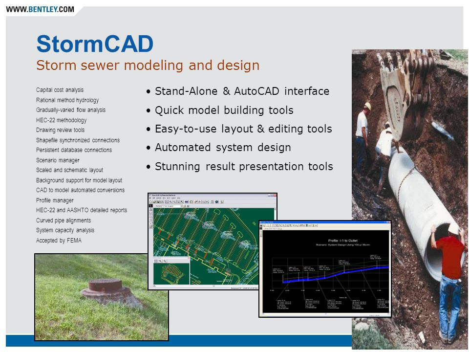 Water distribution sanitary and combined sewers stormwater for Detention pond design hec hms