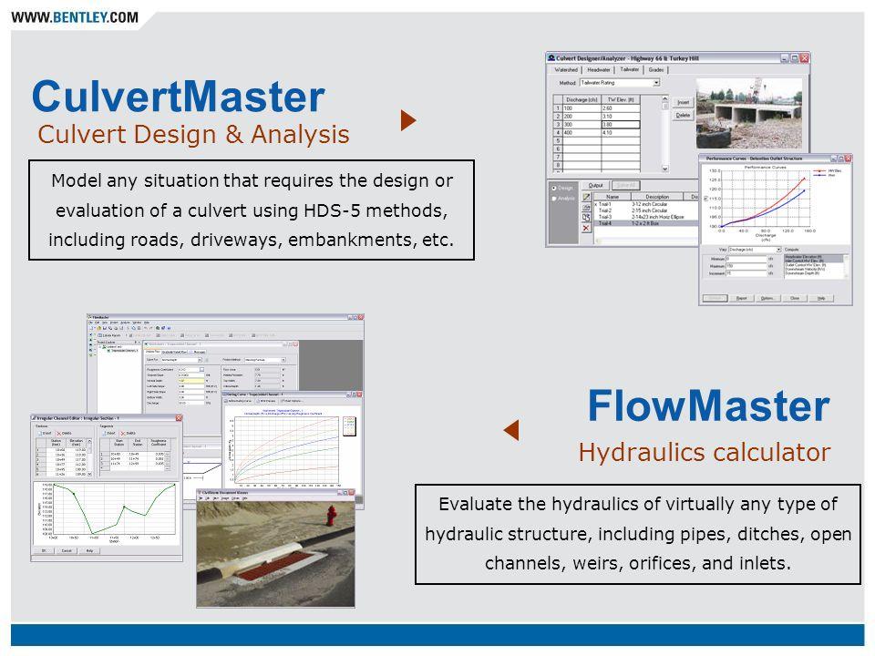 CulvertMaster FlowMaster Culvert Design & Analysis