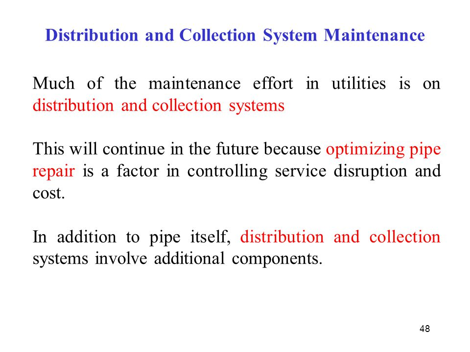 Distribution and Collection System Maintenance