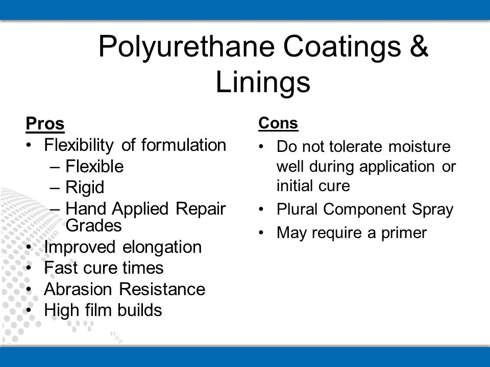 Polyurethane Coatings & Linings