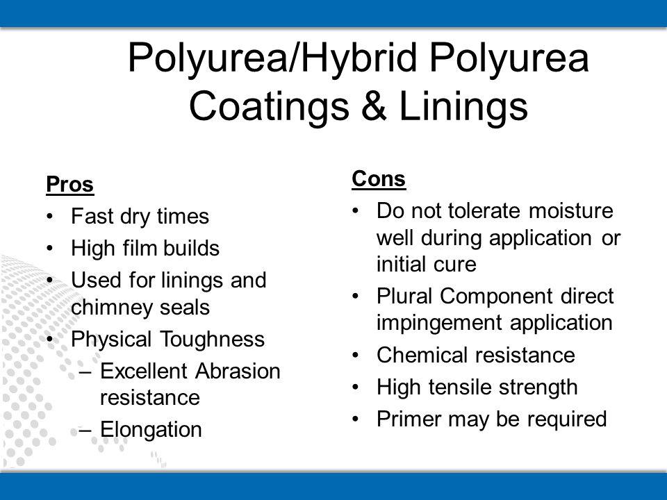Polyurea/Hybrid Polyurea Coatings & Linings