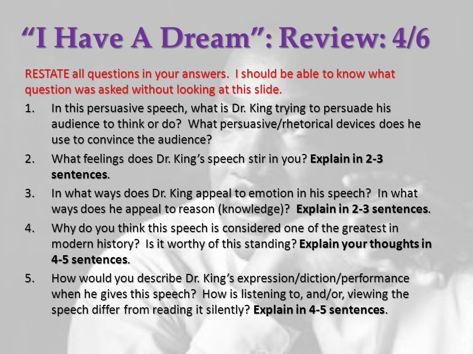I Have A Dream : Review: 4/6