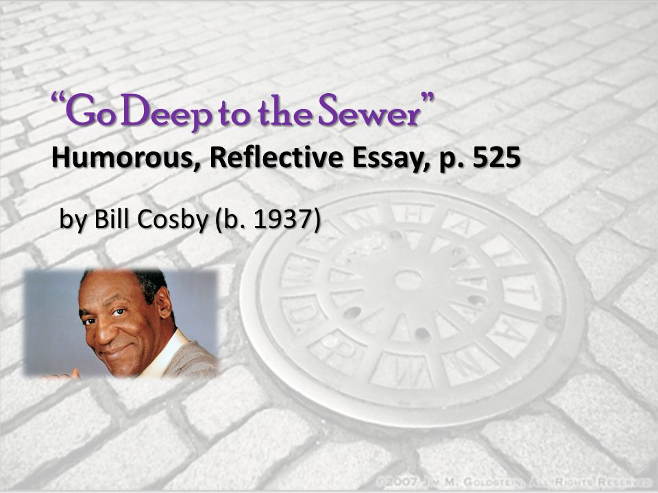 Go Deep to the Sewer Humorous, Reflective Essay, p. 525