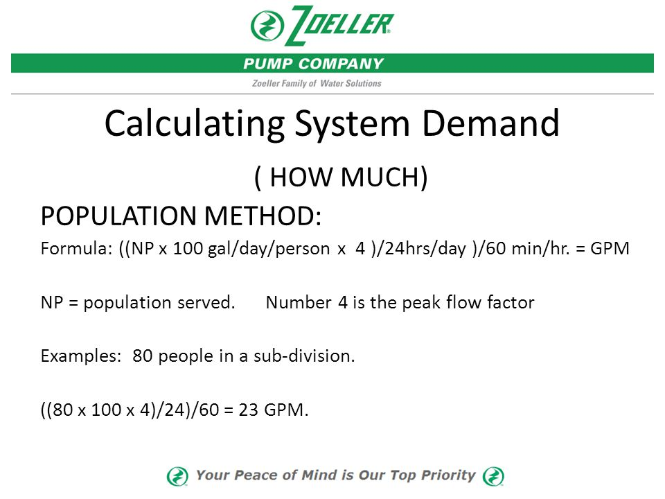 Calculating System Demand