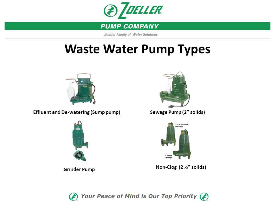 Effluent and De-watering (Sump pump)