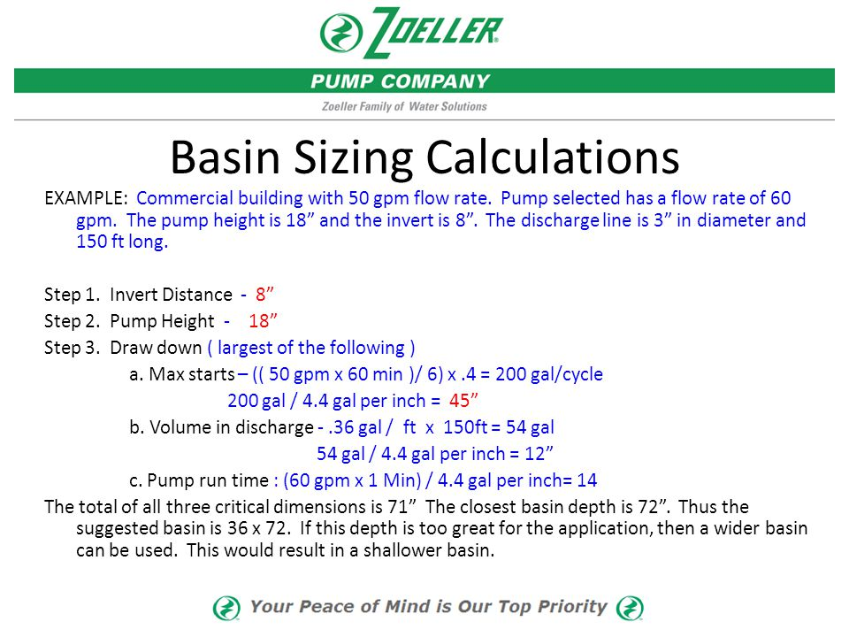Basin Sizing Calculations