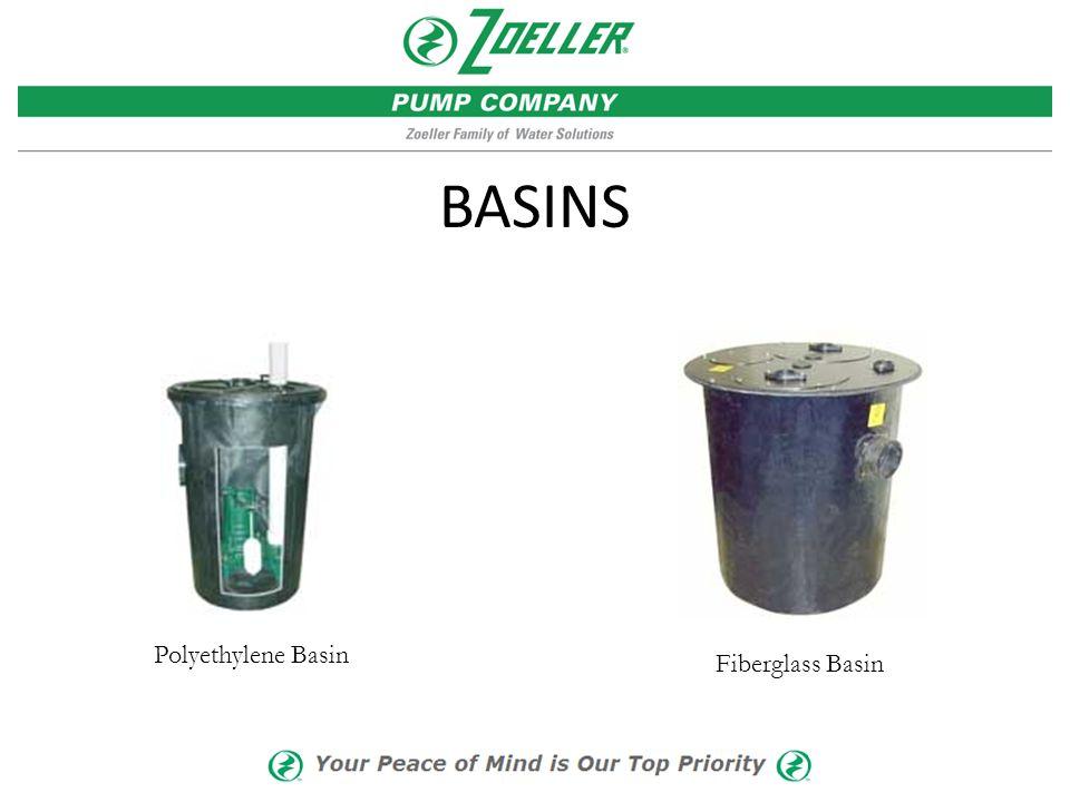 BASINS Polyethylene Basin Fiberglass Basin