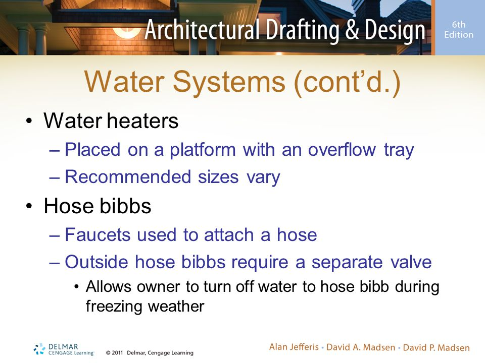 Water Systems (cont'd.)