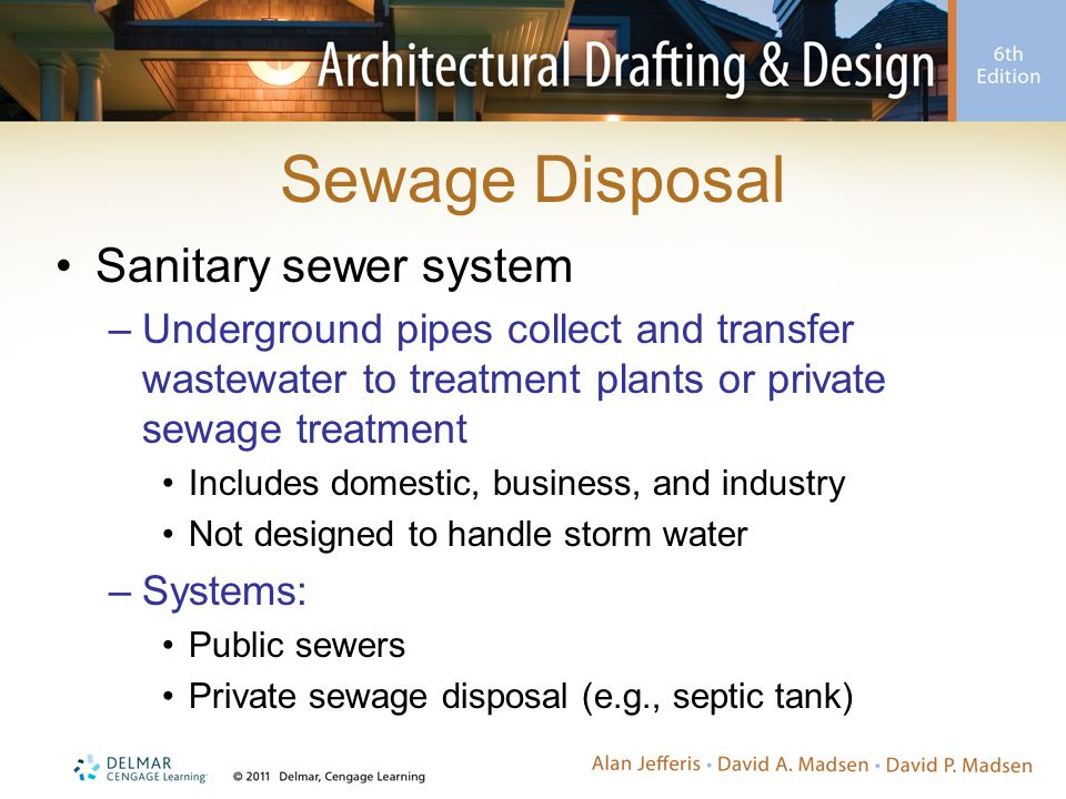 Sewage Disposal Sanitary sewer system