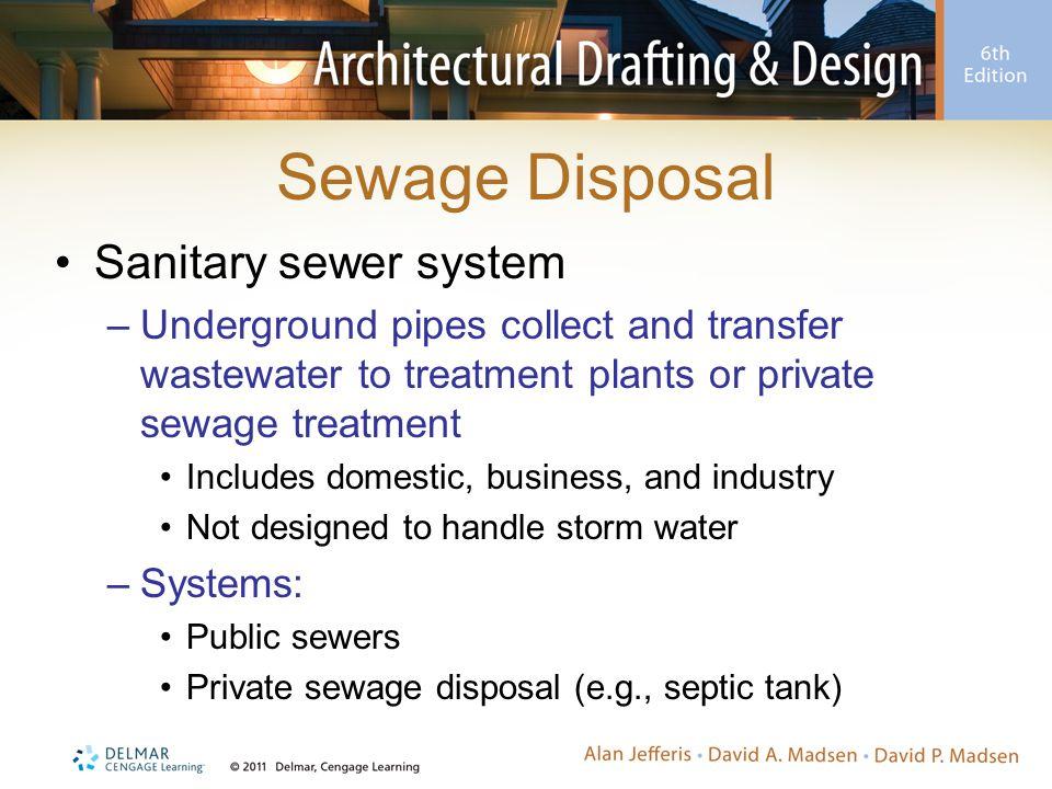 Sewage Disposal Sanitary sewer system