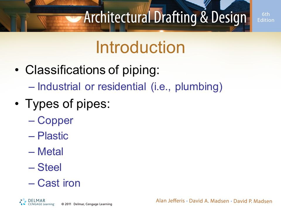 Introduction Classifications of piping: Types of pipes: