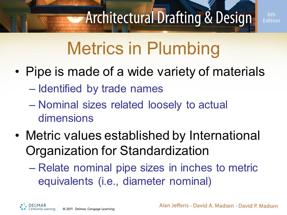Metrics in Plumbing Pipe is made of a wide variety of materials