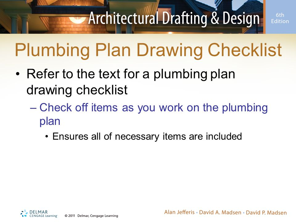 Plumbing Plan Drawing Checklist