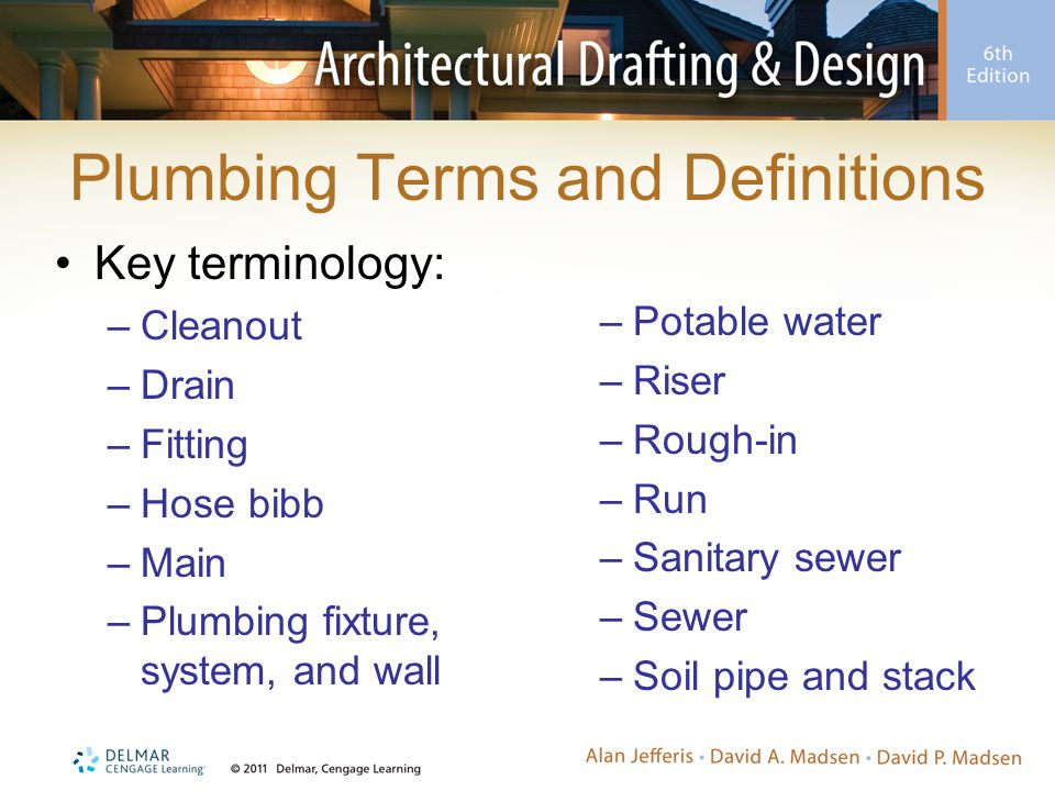Plumbing Terms and Definitions