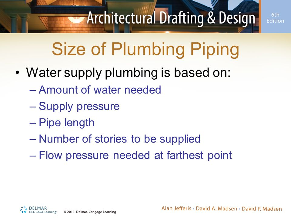 Size of Plumbing Piping