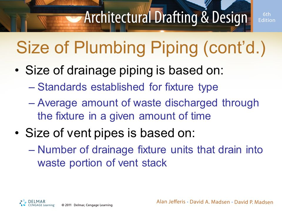 Size of Plumbing Piping (cont'd.)