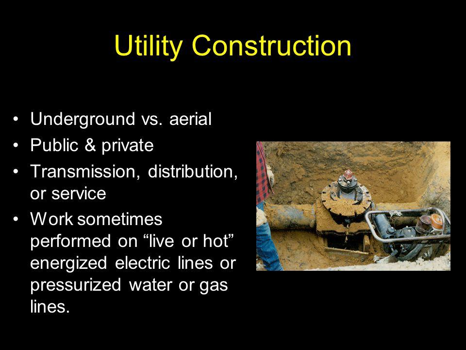 Utility Construction Underground vs. aerial Public & private