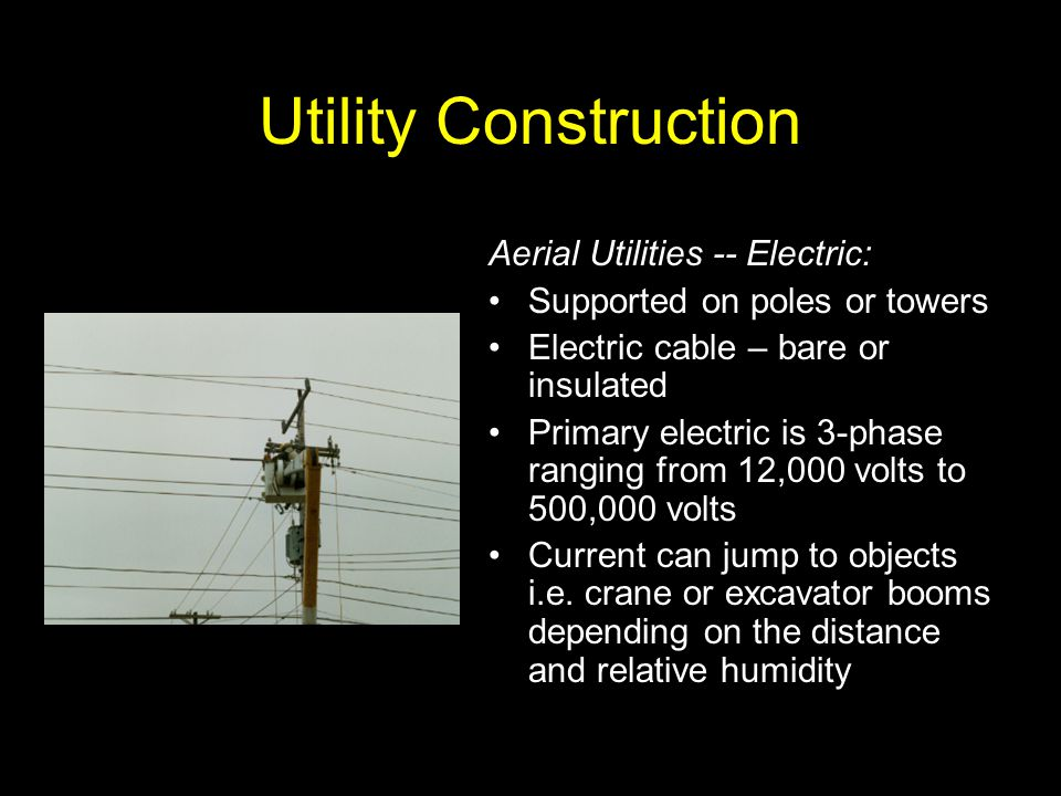 Utility Construction Aerial Utilities -- Electric: