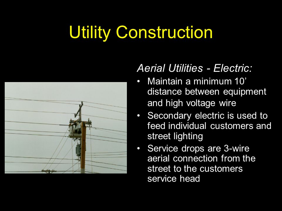 Utility Construction Aerial Utilities - Electric: