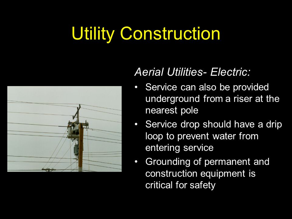 Utility Construction Aerial Utilities- Electric:
