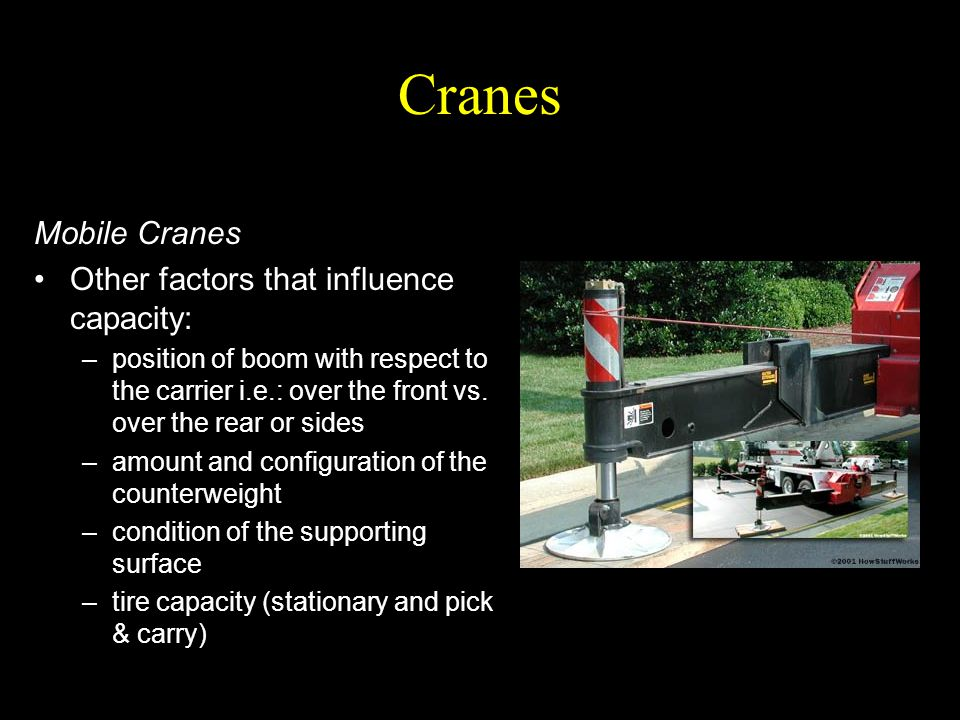 Cranes Mobile Cranes Other factors that influence capacity: