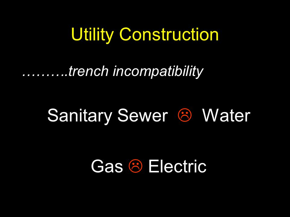 Utility Construction Sanitary Sewer  Water Gas  Electric