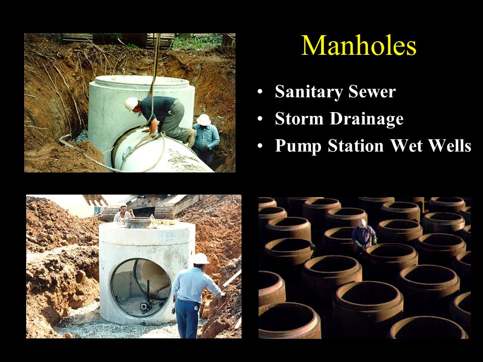 Manholes Sanitary Sewer Storm Drainage Pump Station Wet Wells