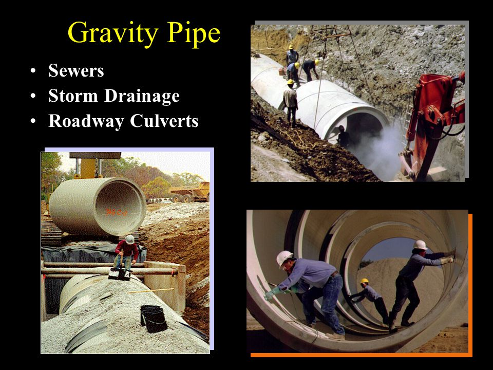 Gravity Pipe Sewers Storm Drainage Roadway Culverts