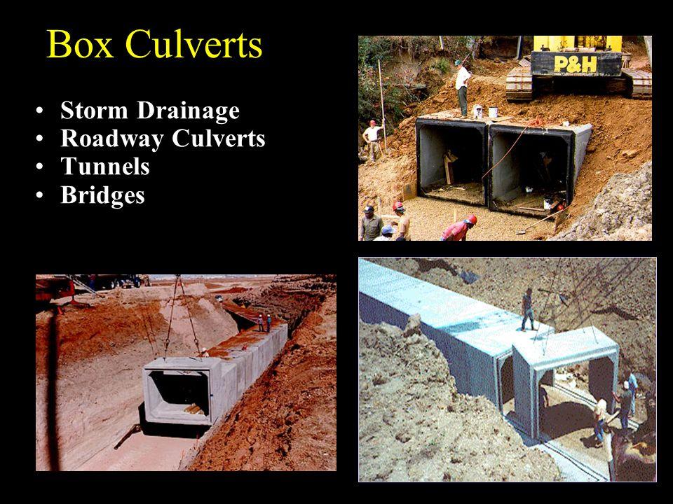Box Culverts Storm Drainage Roadway Culverts Tunnels Bridges