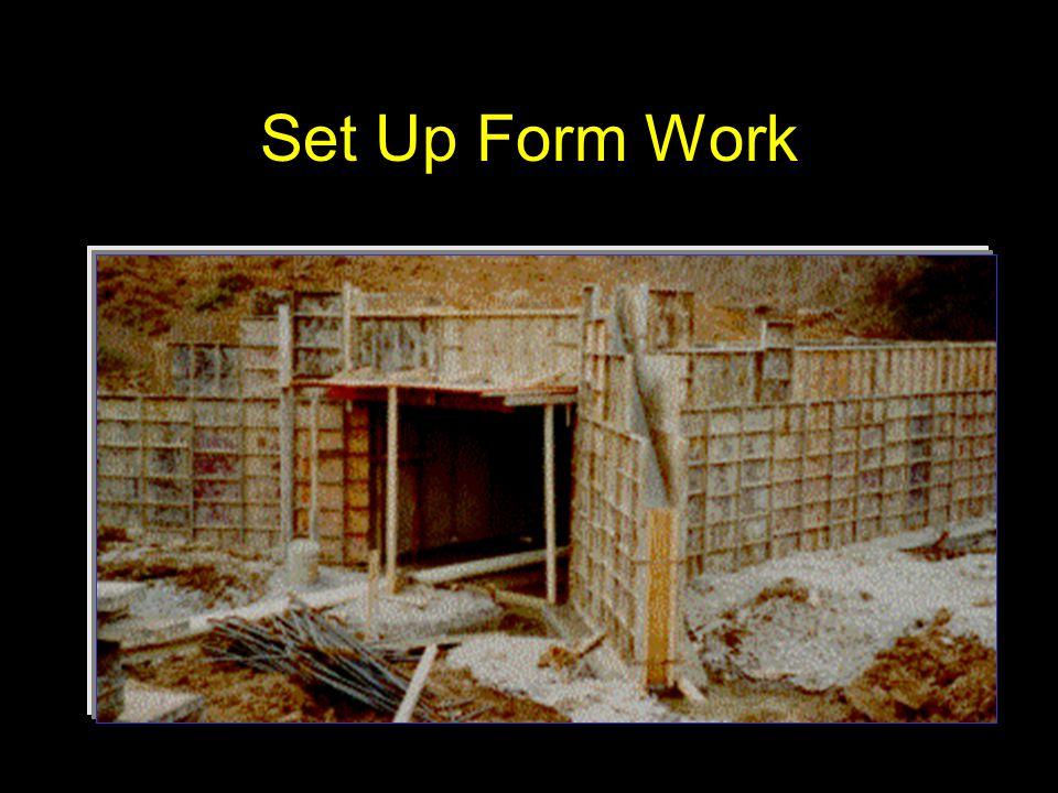 Set Up Form Work