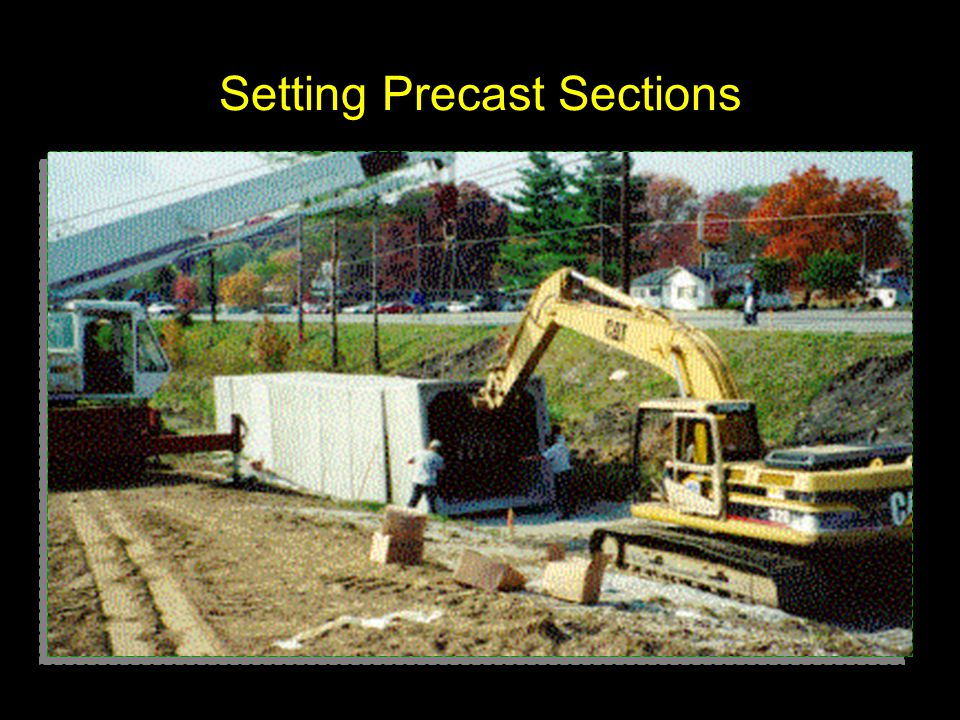 Setting Precast Sections