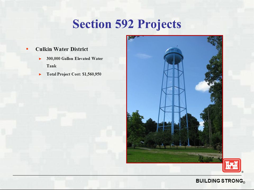 Section 592 Projects Culkin Water District