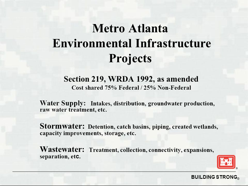 Metro Atlanta Environmental Infrastructure Projects
