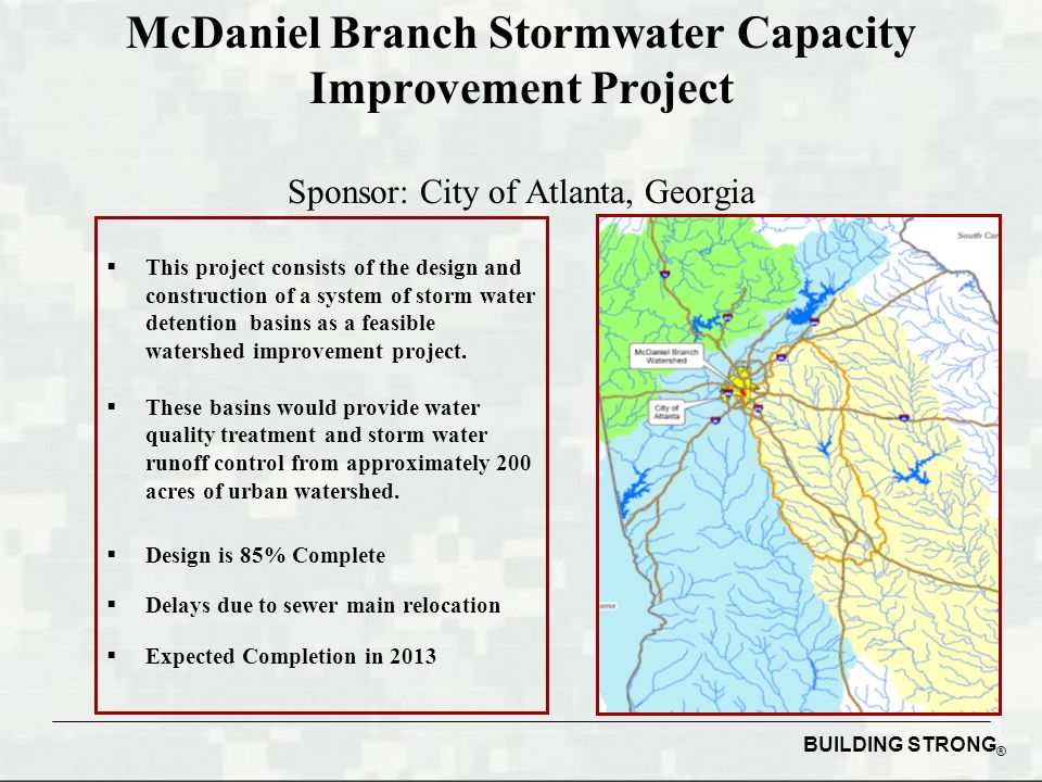 McDaniel Branch Stormwater Capacity Improvement Project Sponsor: City of Atlanta, Georgia
