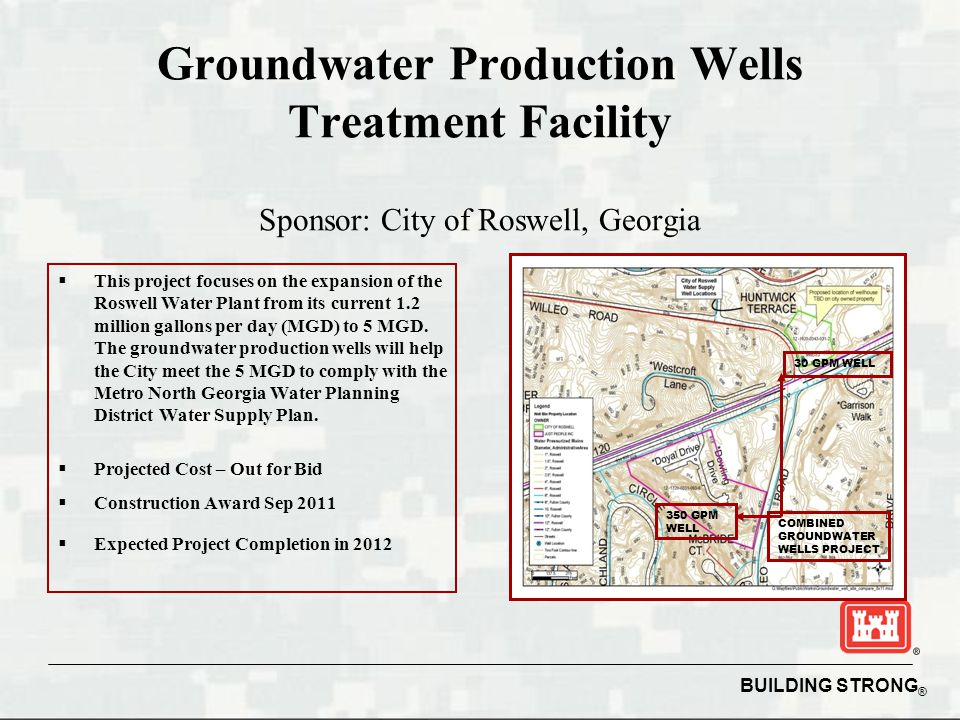 Groundwater Production Wells Treatment Facility Sponsor: City of Roswell, Georgia