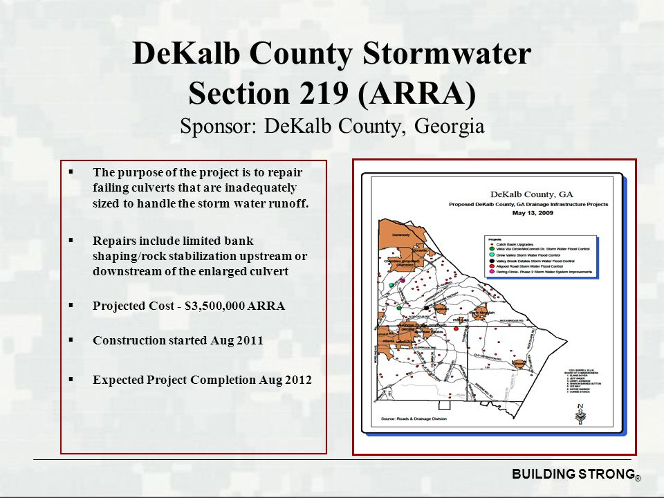 DeKalb County Stormwater Section 219 (ARRA) Sponsor: DeKalb County, Georgia