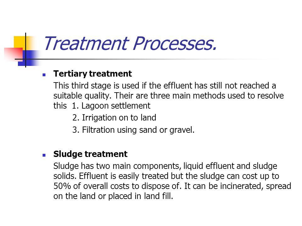 Treatment Processes. Tertiary treatment