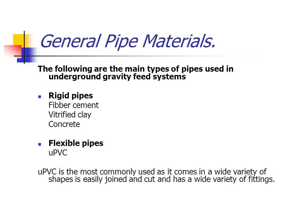 General Pipe Materials.