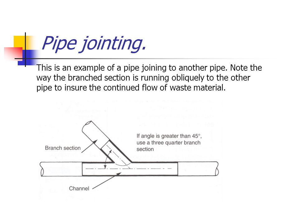 Pipe jointing.