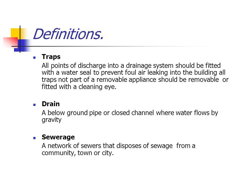 Definitions. Traps.