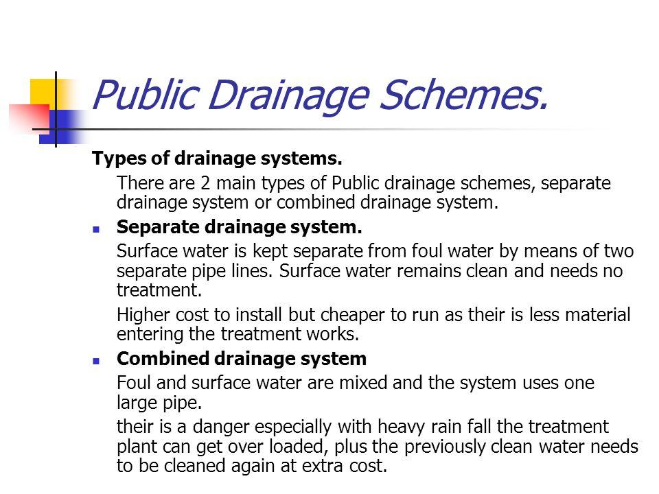 Public Drainage Schemes.