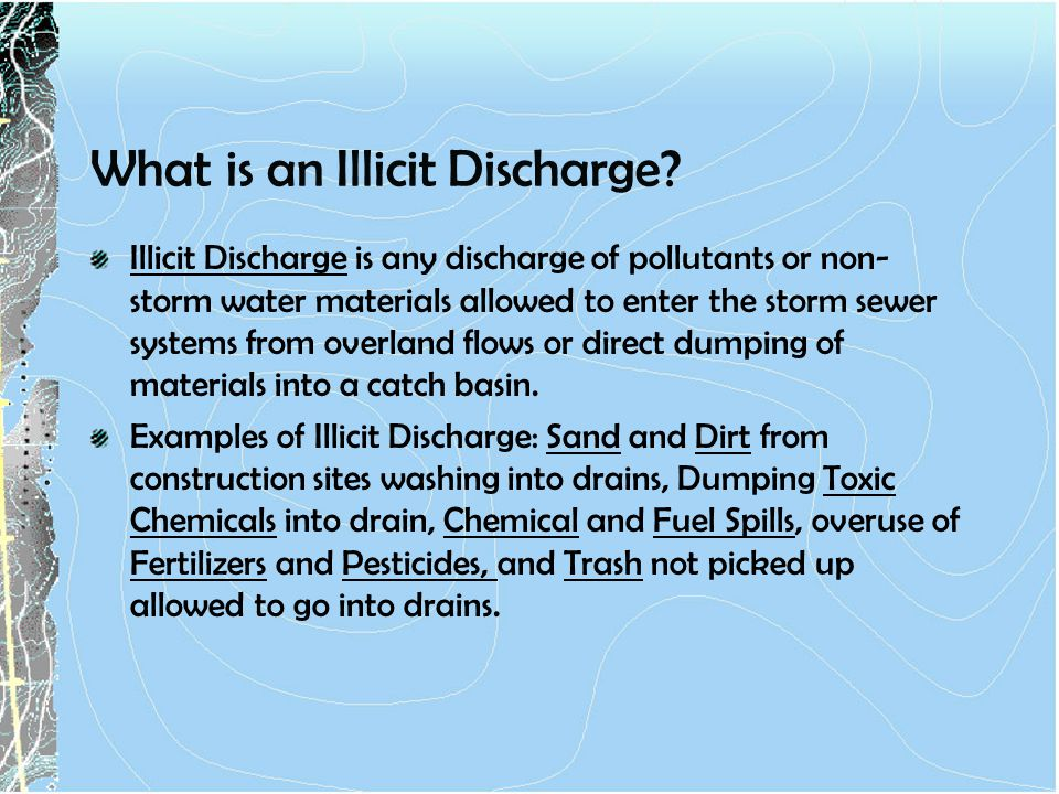 What is an Illicit Discharge