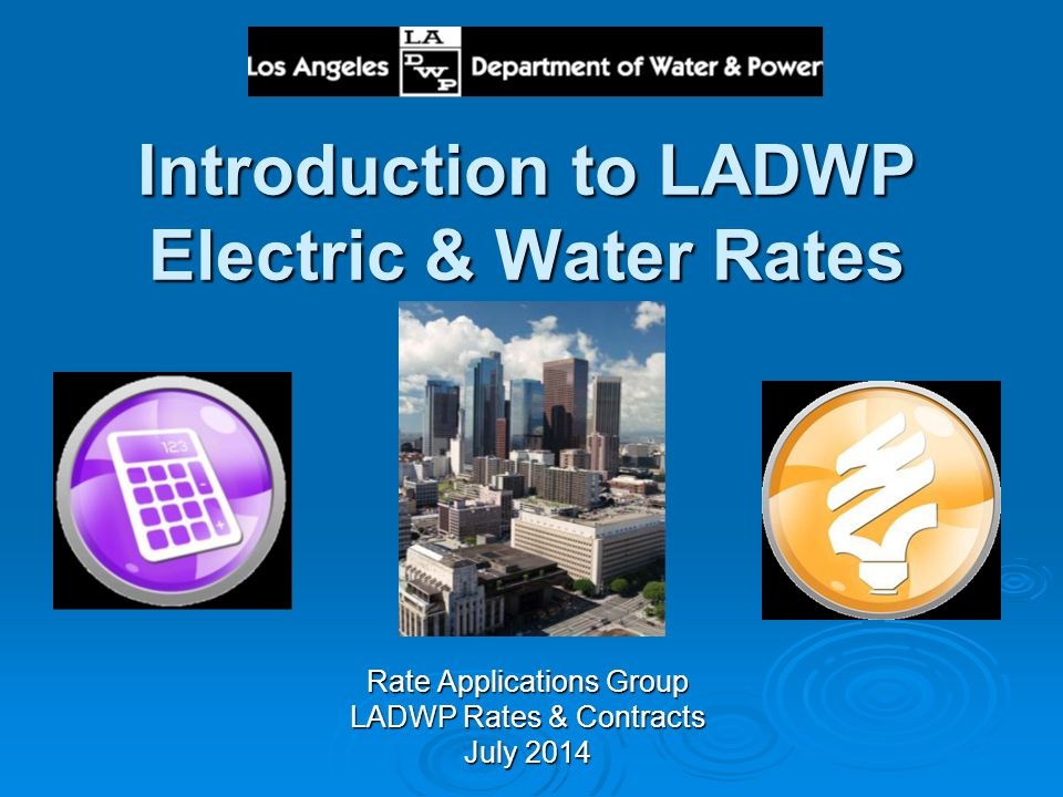 Introduction to LADWP Electric & Water Rates