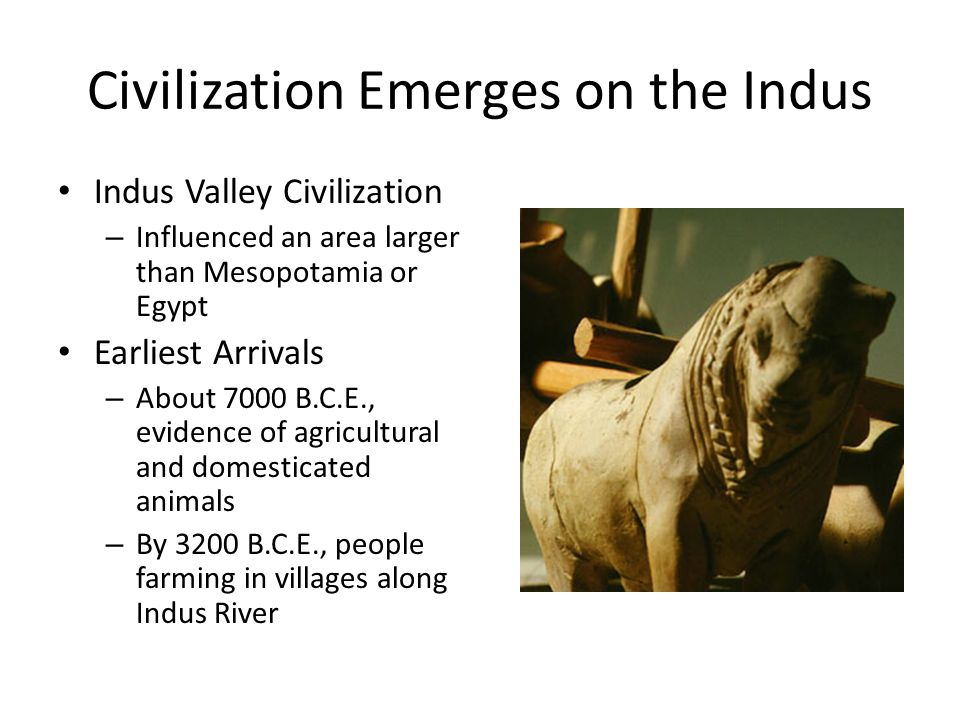 Civilization Emerges on the Indus