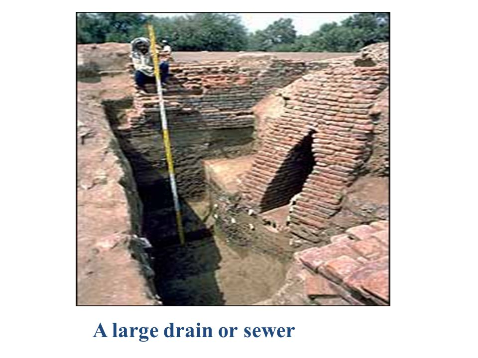 A large drain or sewer