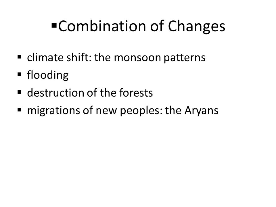 Combination of Changes