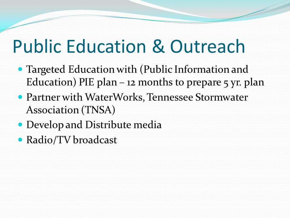 Public Education & Outreach