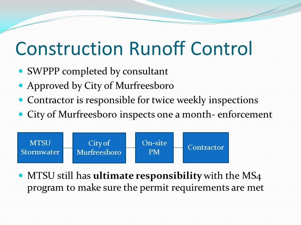 Construction Runoff Control