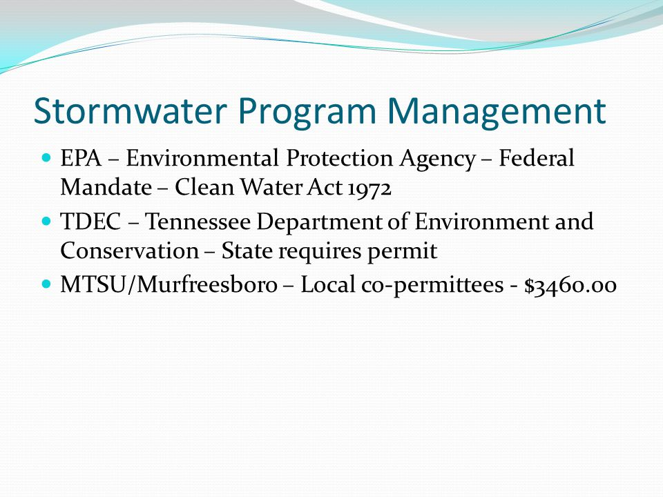 Stormwater Program Management