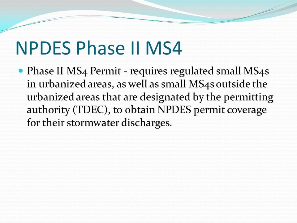 NPDES Phase II MS4